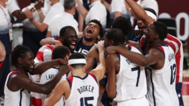 USA beat France 87-82 to claim fourth straight gold medal
